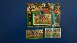 North Korea Stamps 1982 Soccer Complete Set And Souvenir Sheet 3-D(PVC) Fine Mint(**MNH) - Coupe Du Monde