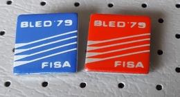 Rowing  Championship Bled 1979 FISA SLOVENIA Ex Yugoslavia Pins - Roeisport