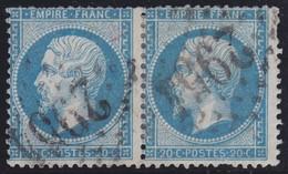 N°22 Paire Position 19D3 20D3, Pas Facile De La Positionner, TB, Quelques Dents Courtes - 1862 Napoléon III