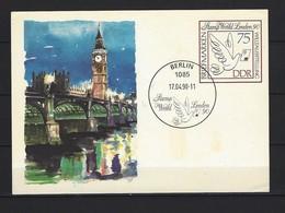 DDR Postkarte P 105 STAMP WORLD LONDON '90 Gestempelt - Postales - Usados