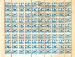 ROMANIA - 1971 - SERIE ORDINARIA - ELICOTTERO - FOGLIO CPL. 100 VALORI USATO (YVERT 2634 - MICHEL 2955) - Elicotteri