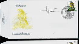FDC Du N° 2725  Gele Kwikstaart  /  Bergeronnette Printanière   Obl. : Soignies  30/08/1997 - 1985-.. Oiseaux (Buzin)
