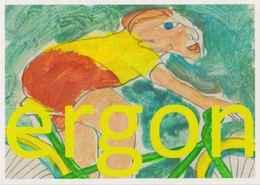 Cpm 1741/HS9 ERGON - Femme à Bicyclette  - Vélo - Cyclisme - Illustrateurs - Illustrateur - Ergon