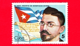 CUBA - Nuovo Obl. - 1986 - 50 Anni Della Morte Di Bonifacio Byrne, Poeta - 5 - Cuba