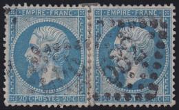 N°22 Paire Position 84D3 85D3, Pas Facile De La Positionner, TB - 1862 Napoléon III