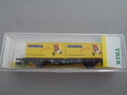MINITRIX Wagon Porte Conteneurs BANANIA 15210.003 - Wagons Marchandises