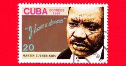 CUBA - Nuovo Obl. - 1986 - Martin Luther King - Antirazzismo - 20 - Cuba