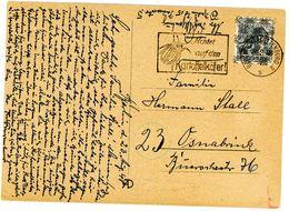 Berlin Vorläufer EF Nr. 40 I Aus Charlottenburg Coloroerte Ansichtskarte Nach Osnabrück - Berlin (West)