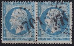N°22 Paire Position 87D3 88D3, Pas Facile De La Positionner, TB - 1862 Napoléon III