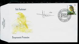 FDC Du N° 2725  Gele Kwikstaart  /  Bergeronnette Printanière   Obl. : Bruxelles  -  Brussel  1/09/97 - 1985-.. Oiseaux (Buzin)