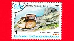 CUBA - Nuovo Obl. - 1986 - Storia - Cile, Diaguita Brocca A Forma Di Anatra E Rovine Di Pucara De Quitor - 1 - Cuba