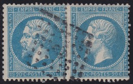 N°22 Paire Position 87D3 88D3, Pas Facile De La Positionner, TB, Oblitéré Ambulant - 1862 Napoléon III