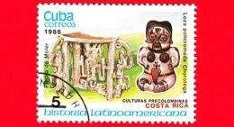 CUBA - Nuovo Obl. - 1986 - Storia - Costa Rica, Memoriale Di Moler E Statua Di Chorotega - 5 - Cuba