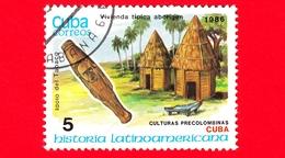 CUBA - Nuovo Obl. - 1986 - Storia - Cuba, Idolo Tabaco E Tipiche Case Aborigene - 5 - Cuba