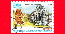 CUBA - Nuovo Obl. - 1986 - Storia - Ecuador, Statua Di Tolita E Forte Ingapirca - 5 - Cuba