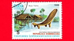 CUBA - Nuovo Obl. - 1986 - Storia - R. Dominicana, Case Tipiche E Posti A Forma Di Animale - 5 - Cuba