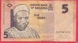 Nigeria 5 Naira 2006  Dans L 'état (9) - Nigeria