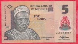 Nigeria 5 Naira 2013  Dans L 'état (11) - Nigeria