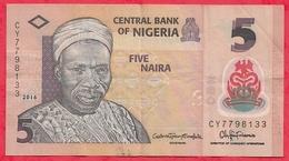 Nigeria 5 Naira 2016  Dans L 'état (12) - Nigeria