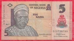 Nigeria 5 Naira 2017  Dans L 'état (13) - Nigeria