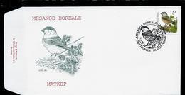 FDC Du N° 2695  Mésange Boréale  /  Matkop   Obl. : Dottignies  08/03/97 - 1985-.. Oiseaux (Buzin)