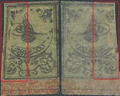 Turchia Turkey Ottomano Ottoman 1863  STAMP OF TUGHRA SECOND, PAPER SUPER THIN . 20p - Irregular And Rare. - 1858-1921 Ottoman Empire