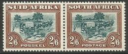 South Africa - 1947 Trekking 2/6d Bilingual Pair  MNH **    SG 121  Sc 63 - South Africa (...-1961)