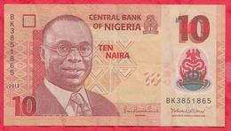 Nigeria 10 Naira 2013   Dans L 'état (16) - Nigeria