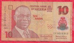 Nigeria 10 Naira 2014   Dans L 'état (17) - Nigeria