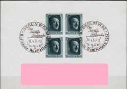GERMANY REICH [1937] MiNr 0647 Block 8 ( O/used ) [01] - Deutschland
