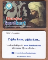 AC - MULTIPLE RIDE BUS PLASTICCARD MEHMED THE CONQUEROR MANISA, TURKEY PUBLIC TRANSPORTATION - Autres