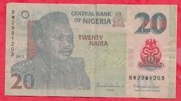 Nigeria 20 Naira 2012   Dans L 'état (22) - Nigeria