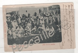MAROC - CP ANIMEE TANGER - FETE DE LA POUDRE - N° 29 VALENTIN HELL TANGER - CIRCULEE EN 1901 CACHET GIBRALTAR - Tanger