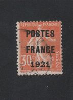 Faux Préoblitéré N° 35 30 C Semeuse Poste France 1921 - Precancels