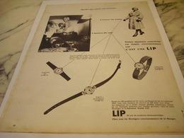 ANCIENNE PUBLICITE EN TOUTE CIRCONSTANCE MONTRE LIP 1958 - Joyas & Relojería