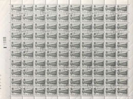 ROMANIA - 1967 - SERIE ORDINARIA - TRENO 20 BANI - FOGLIO CPL. 100 VALORI USATO (YVERT 2347 - MICHEL 2641) - Aerei