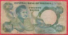 Nigeria 20 Naira 1984 (sign 7)  Dans L 'état (37) - Nigeria