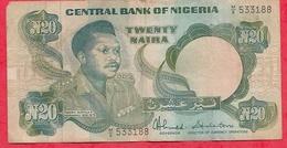 Nigeria 20 Naira 1984 (sign 8)  Dans L 'état (38) - Nigeria