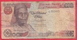 Nigeria 100 Naira 2012  Dans L 'état (39) - Nigeria