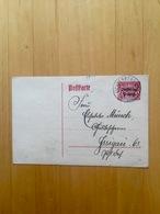 Bayern, Dienst, GA-Postkarte. - Bavière