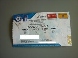 Greece-Italy UEFA European Qualifiers 2020 Football Match Ticket Stub 08/06/2019 - Tickets D'entrée