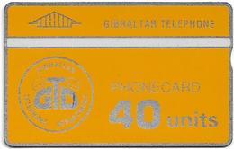 Gibraltar - GNC - GTD Old Logo - L&G - 909A - 1990, 40Units, 9.600ex, Mint - Gibraltar