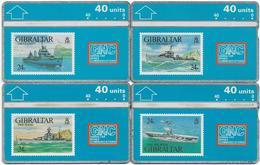 Gibraltar - GNC - Warships Stamps 1993 Set Of 4, L&G - 40 Units, 20.000ex, Used & Mint - Gibraltar