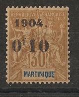 Martinique - 1904 - N°Yv. 54 - 0f10 Sur 30c Brun - Type I - Neuf ** Luxe / MNH / Postfrisch - Ungebraucht