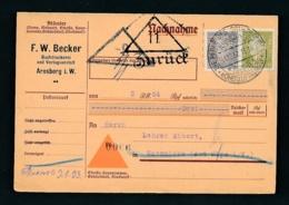 Alter Bedarf Beleg- PERFIN ...  (zu1201  ) Siehe Scan - Deutschland