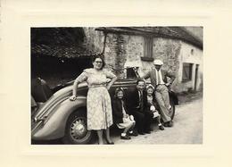 POULANGY-HAUTE MARNE-PHOTO-PHOTOGRAPHIE-PERSONNAGE-HOMME-FEMME-ENFANTS-AUTO-VOITURE- - Automobiles
