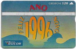 Portugal - PT - L&G - Feliz Ano Novo '95 - 511A - 1995, 120U, Used - Portugal