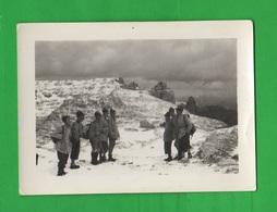 Gil Avanguardisti Esercitazione In Montagna Istruttore Ventennio Rifugio Ghiacciai Osservatori 3 Foto Anni 30 - Guerra, Militari