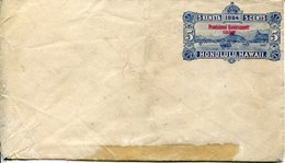 45488 Hawaii,  Stationery Cover 5cents. Surchaged Red Provisional Gouvernement 1898, Damaged !!!!!!!!!!! - Hawaii