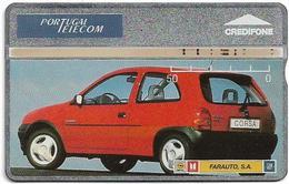 Portugal - PT - L&G - Farauto Vermelho Opel Corsa Car - 411L - 1994, 50U, 7.800ex, Used - Portugal